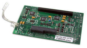 Add-on daughtercard to the LR-F28335DAQ (adds 8 A/D/A channels)